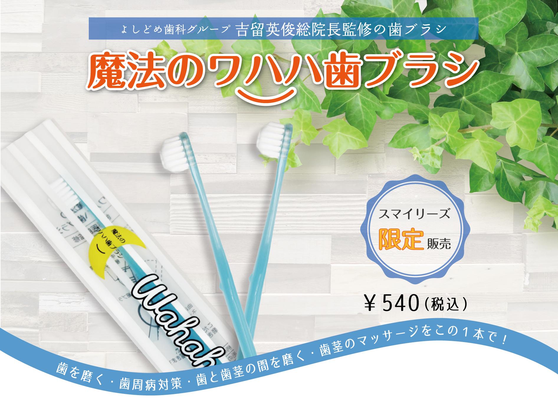 魔法のワハハ歯ブラシのタイトル
